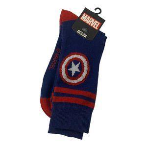 Men's Blue Marvel Crew Socks 1 Pair New in Packagi